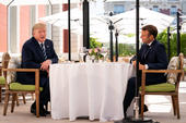 Trump Macron G7
